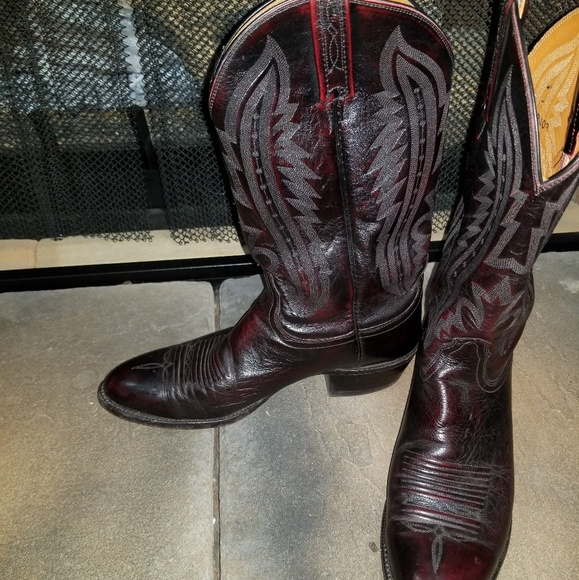 cf49571010b Lucchese Kangaroo Leather Boots size 9.5